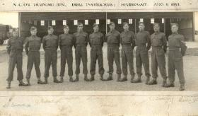 Royal Signals NCOs' Training Battalion Drill Instructors Harrogate 11 August 1943