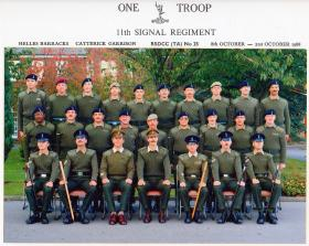 One Troop, 11th Signal Regiment, Catterick, October 1988.