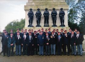 Group Photograph of Guards Parachute Association Members, Cenotaph Parade, 2004