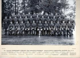 Group photograph of Guards Parachute Company, Evelyn Wood Competition Winners 1961, 1962 and 1963