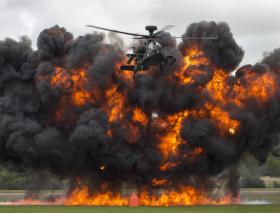 An Apache at the Royal International Air Tattoo at RAF Fairford, July 2014.