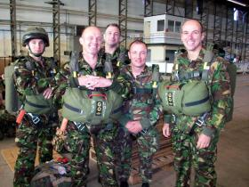 Members of 4 PARA at Eindhoven prior to jumping at Arnhem, 2008.