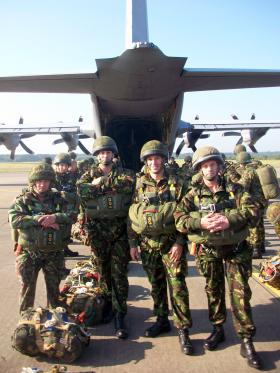 Members of 4 PARA, waiting to emplane, Arnhem, 2008.