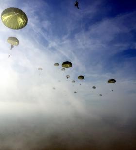 Photo taken during jump, Arnhem 2015.
