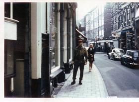 Tim Short posing in Arnhem - 25th Anniversary 1969