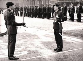 CSM Simpson, Arnhem Day Parade, Montgomery Lines, 1988.