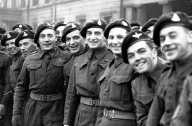 Arnhem Investiture at Buckingham Palace, December 1944.