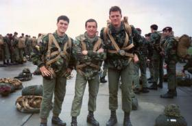 Members of 23 Parachute Field Ambulance prior to jump into Arnhem, 1988.