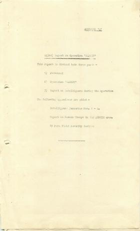 1 Airborne Division report on Operation Market Garden, part 1.