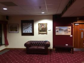 Portrait painting of Capt Roberts, MBE in 13 Air Assault Officers' Mess.