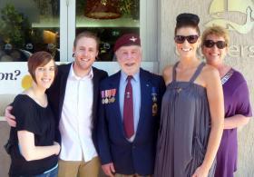 Arthur Sinclair and family, 25 April 2013.