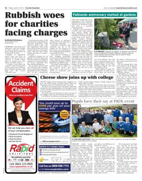 Newspaper article from the Cornish Guardian on Trebah Military Day 2012