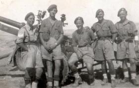 Members of 211 Airlanding Light Battery RA, Asluge, Palestine, 2 April 1946.