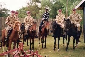 Members of Assault Pioneer Platoon, 3 PARA, Kenya 1994.