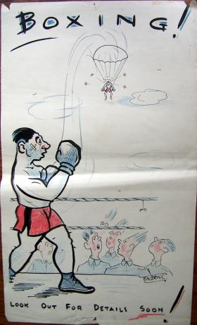 Wartime Boxing poster, date unknown.