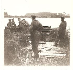 Members of Assault Pioneer Platoon S Coy 17 Bn on Exercise, 1957