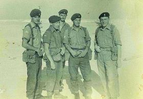 Members of 7 Para Lt Regt RHA on a range, Bahrain c 1963.