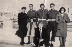 Members of 6th Parachute Battalion in Athens 1945