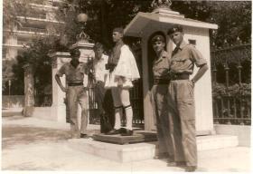 Guards Para members visit Athens, 1962