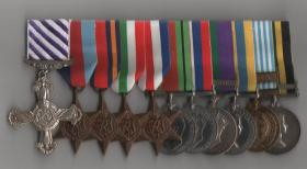 Medal set for Maj Aubrey Pickwoad DFC