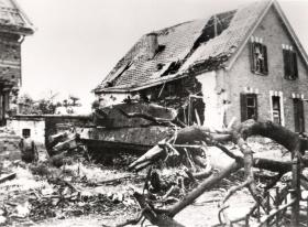 Tiger Ausf B knocked out on Wever Straat, Arnhem, 1944