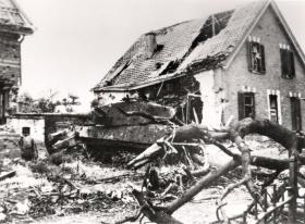 Tiger Ausf B knocked out on Wever Straat, Arnhem, 1944