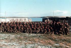 B Company 2 PARA after the battle of Goose Green, Falkland Islands, 1982.