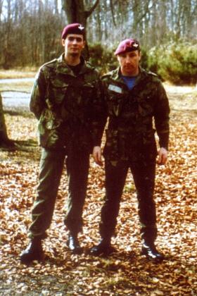 Martin and Billy in Aldershot. Early '80s.