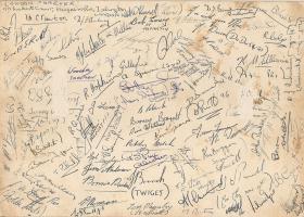 B Coy 3 PARA signatures Cyprus 1956