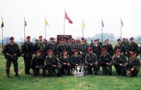 B Coy, 4 PARA, Skills at Arms Meeting (SAAM), Altcar, 1990.