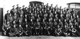 B Platoon 63 Company RASC, Noeux les Mines France, March 1945.