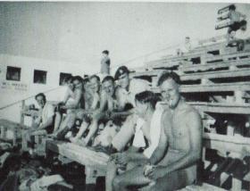 Members of B Troop 9 Airborne Sqn RE at Haifa Casino Palestine, 1947