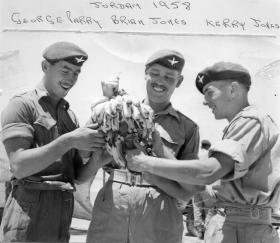 George Parry, and colleagues, 2 PARA, Jordan, 1958
