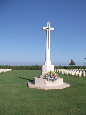 Cross of Sacrifice, Bari War Cemetery, Italy 2011.