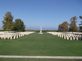 View of Bari War Cemetery, Italy 2011.