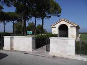 Entrance to Bari War Cemetery, Italy 2011.