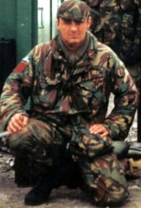 Pte Barraclough, B Company, 1 PARA, at ranges Northern Ireland 1993.