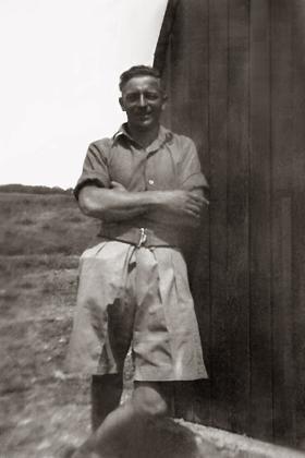 Pte Lionel Hyde in Palestine 1946