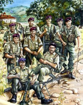 1st Battalion The Parachute Regiment, D Company, 12 Platoon, 3 Section  by Phylis E Fraser, 1950s.