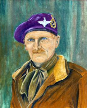 Field Marshal Bernard Montgomery as Colonel Commandant by unknown artist