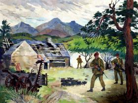 Recruit Training, Brecon, by Peter Culpitt Evans.