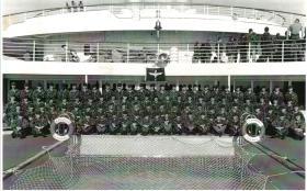 B Company 3 PARA on board SS Canberra 1982