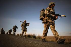 Members of 3 PARA taking part in Exercise Joint Warrior, 2012.