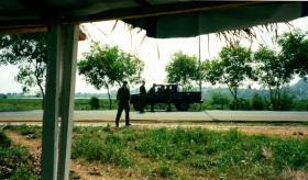 12 Platoon, D Coy Group, 2 PARA, Beach Road vehicle check point, Sierra Leone, May 2000.