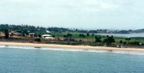 Beach Road, Aberdeen Peninsular, Freetown, Sierra Leone, West Africa, May 2000.