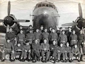 Airborne Forces Experimental Establishment at RAF Beaulieu with a Viking aircraft, 1948.