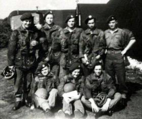 Spr Morgan with friends at RAF Beaulieu, 1948.