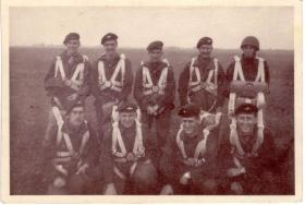 Pte Stan Fowler just before  his first jump, RAF Abingdon May 1956