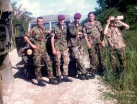Members of A Coy, 2 PARA, Belize, 1983.