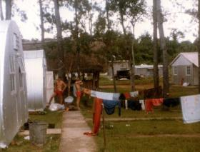 Wash day for A Coy, 2 PARA, Belize, 1983.